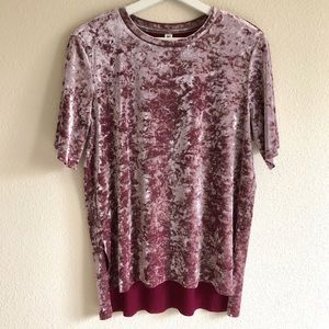 BP Nordstrom Crushed Velvet T-Shirt